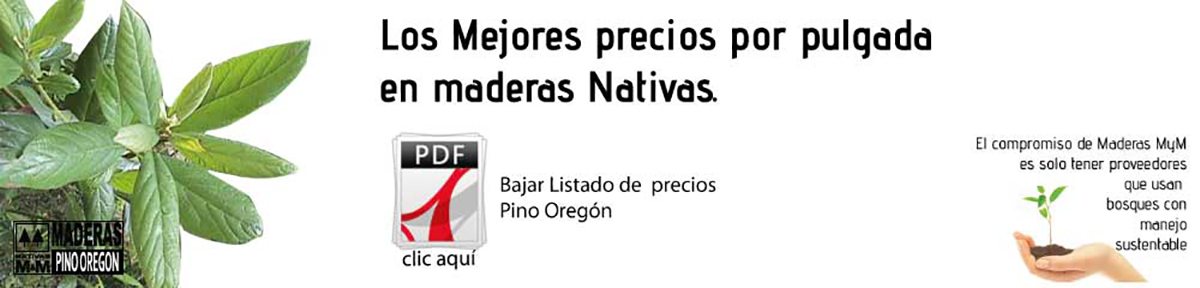 Sustentable madera Pino Oregón